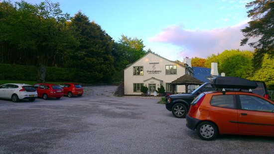The Culbone Stables Inn: View from car park