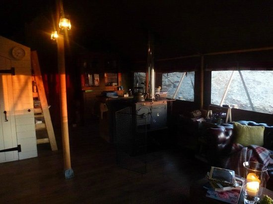 Longlands: Inside the Lodge at Twilight