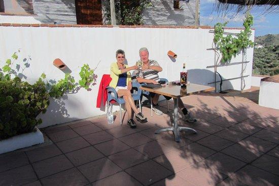 Casa El Algarrobo: aperitief in de avondzon, genieten