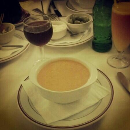 Restaurante Pepe Caribe: gazpacho a la andaluz