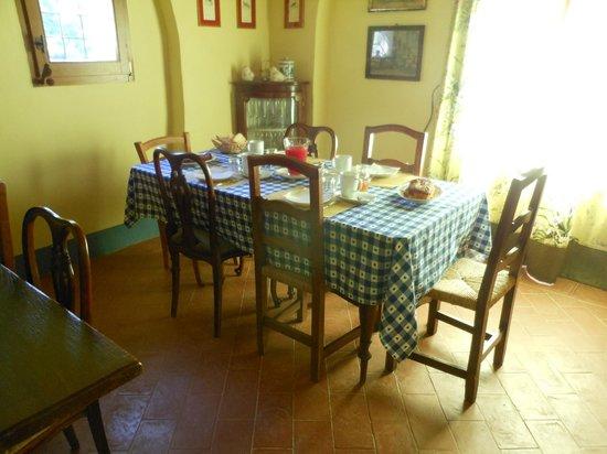 Al Giardino degli Etruschi: Ecco il tavolo per la colazione