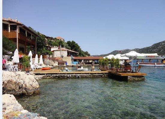 Sahil Pansiyon: yüzme alanı