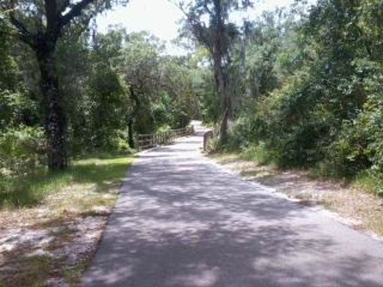 Blue Spring State Park: rails to trails at blue springs s.p.