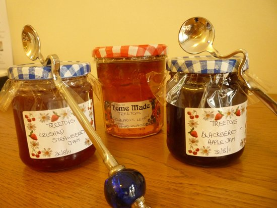 Treetops Guest House: Homemade preserves