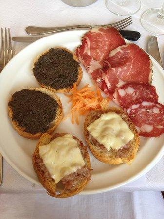 Hotel Santa Caterina: antipasto toscano