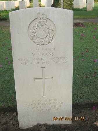 Madras War Cemetery: Welsh Epitaph-If your end is in a grave in a foreign land,we shall meet again in our Fathers hou