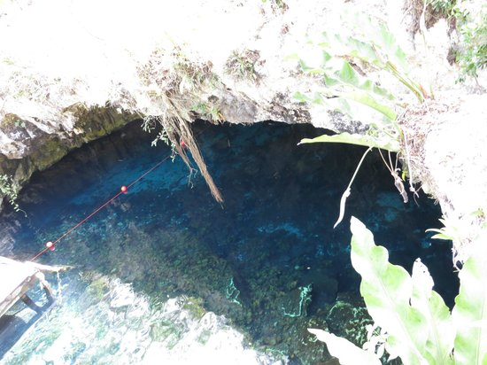 Temple of Doom (Cenote Esqueleto): The Temple of Doom from above