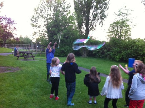 Greenacres Animal Park: Making bubbles in Greenacres's fantastic kids playground