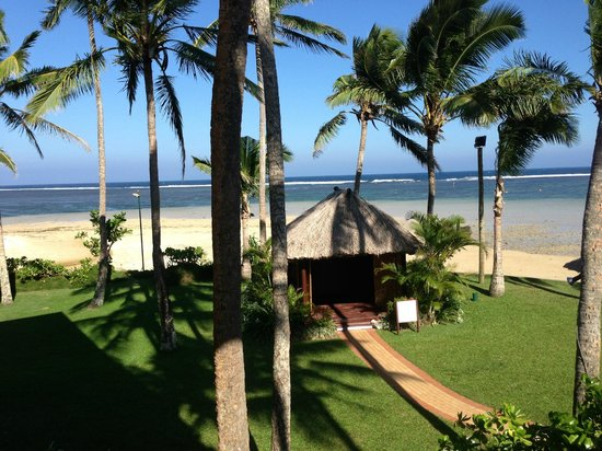 Outrigger Fiji Beach Resort: Private bure for massage or lunch by the beach