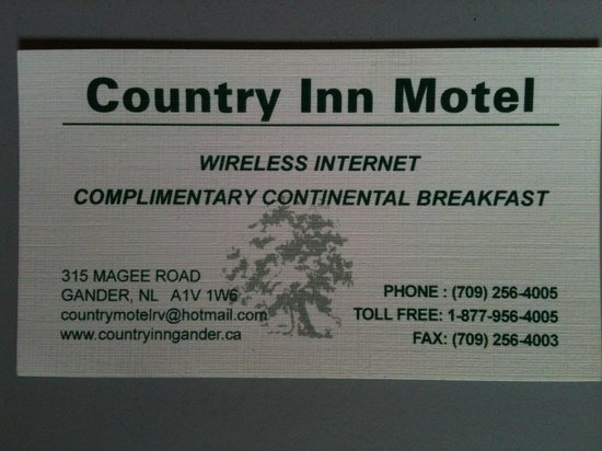 Their business card picture of country inn motel rv park country inn motel rv park their business card colourmoves