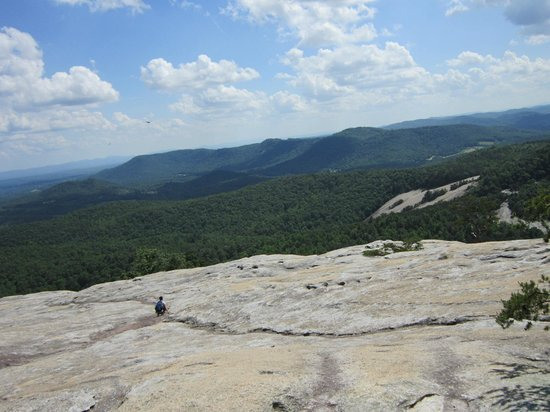 Stone Mountain State Park: You can walk way out, or stay back (like I did!)
