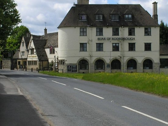The Bear of Rodborough Hotel: Hotel from approach road.