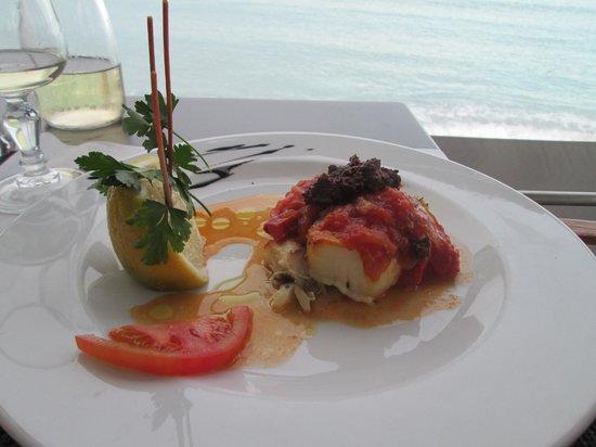 Le Fanal : FILETTO DI NASELLO al pomodoro e tapenade , piatto del giorno