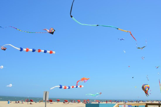 Grand Hotel & Spa: Kites flying.