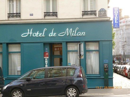 Hotel De Milan : Façade de l'Hôtel de Milan