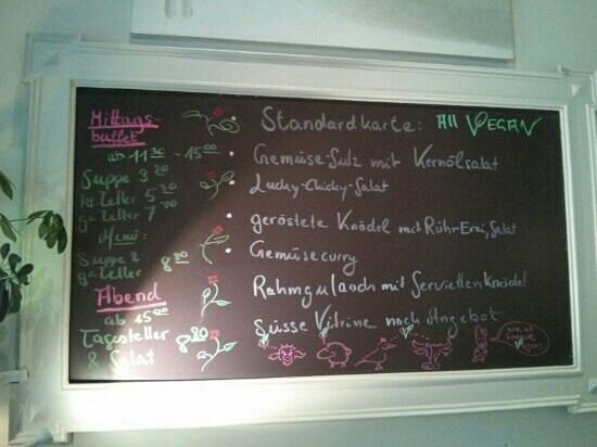 Harvest Cafe Bistrot: Tageskarte