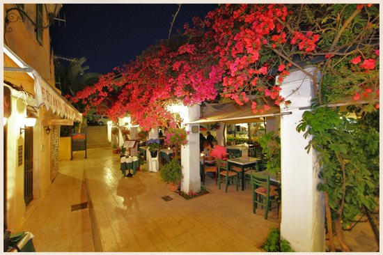 Bougainvillea Restaurant: located on the highest level of the town hall square