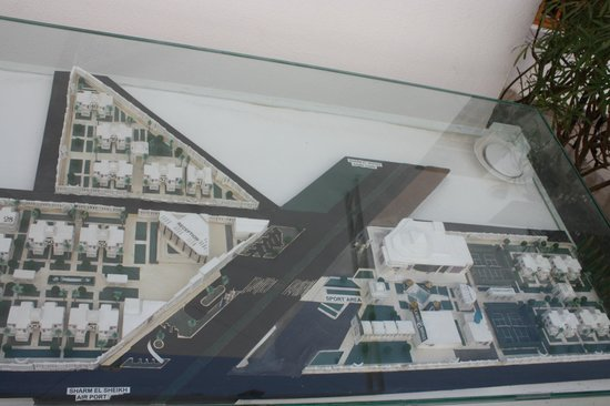 "Maritim Jolie Ville Resort & Casino Sharm El-Sheikh: Hotel plan, showing the ""Sports Area / Annexe"", over the road"