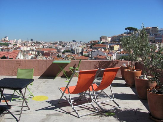 This is Lisbon Hostel: Sunny Terrace