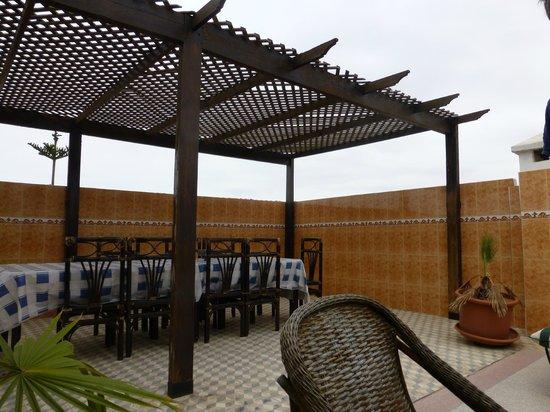 La Porte des Étoiles : partie terrasse et toit