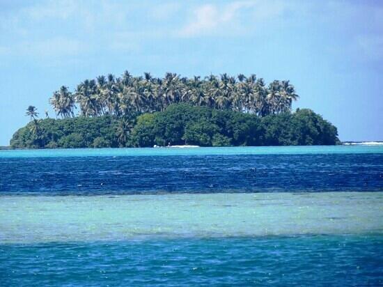 Hotel Atiapiti : Vue de la villa lagon