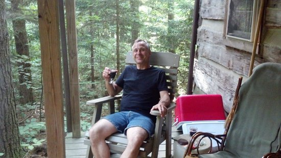 Hocking Hills Frontier Log Cabins: Relaxing on the Front Porch