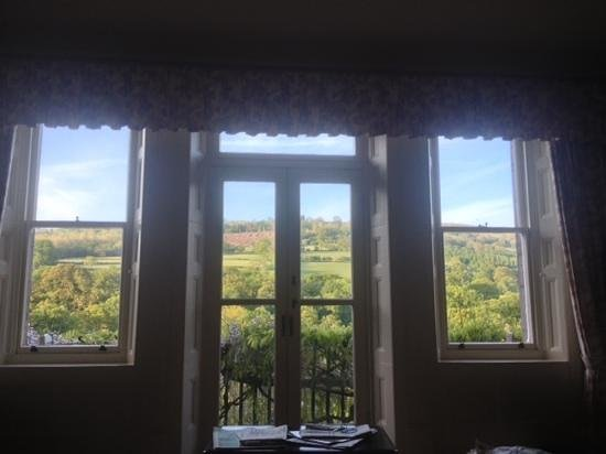 Gliffaes Country House Hotel: view from the bedroom