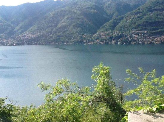 Hotel Fioroni: Vista desde el camino que va de Como a Bellagio bordeando el lago