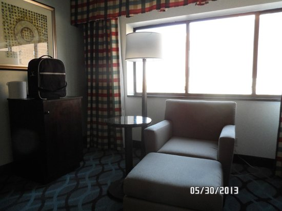 Radisson Hotel High Point: One chair & foot stool