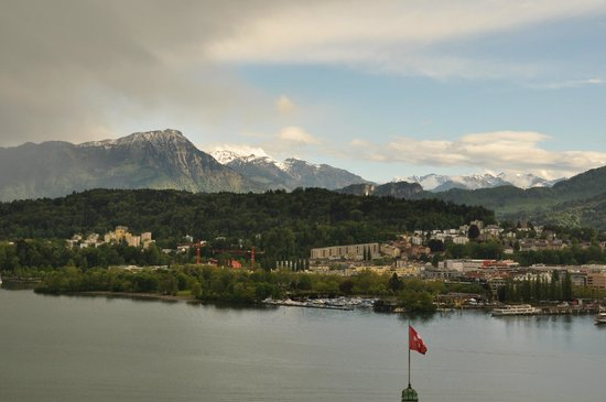 Art Deco Hotel Montana Luzern: From the balcony after the rains