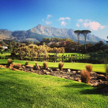 Steenberg Hotel: The view of the lake and golf course from my terrace.