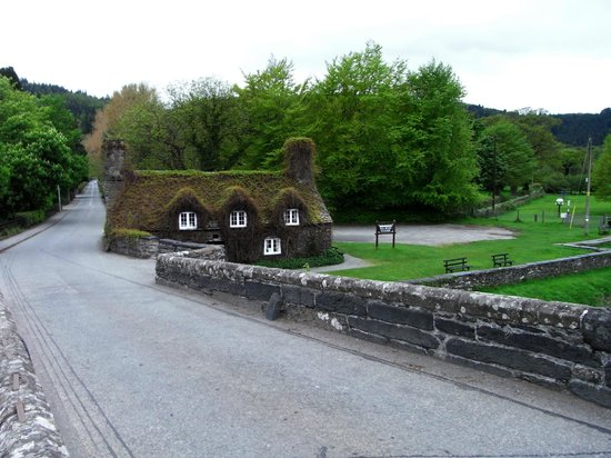 Trem Gwydir Holiday Village: The tea house a moment away!