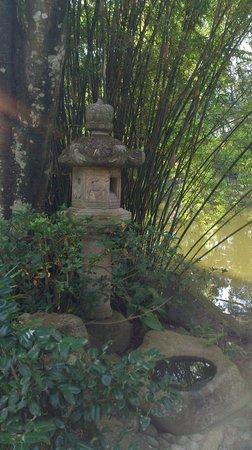 Tenshaen Garden : 石灯篭と竹