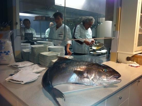 Damiani e Rossi Trattoria: ricciola di mare in bella vista