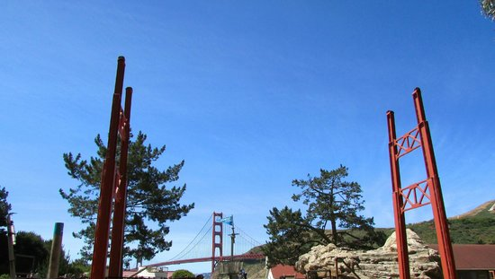 Bay Area Discovery Museum: two sets of bridge towers