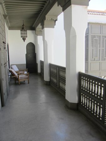 Zaouia 44: Typical view from courtyard facing rooms