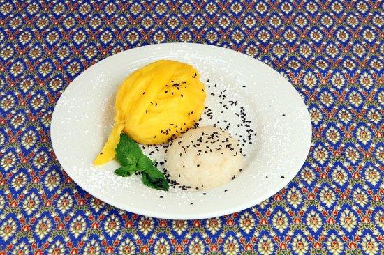 SiamSquare: Kao niew mamoang -Arroz cola com manga fresca