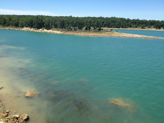 Ardmore, OK: View of lake from Tucker Tower observation deck