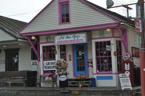 The Brick Store: Ice Cream Parlor next door