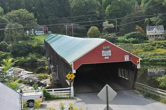 The Brick Store: Covered bridge behind the store