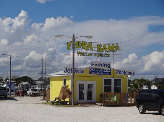 Cayo Perdido, FL: Flora-Bama Marina offers Fishing Charters and rents Jet Skis, Pontoon Boats and Sea Kayaks