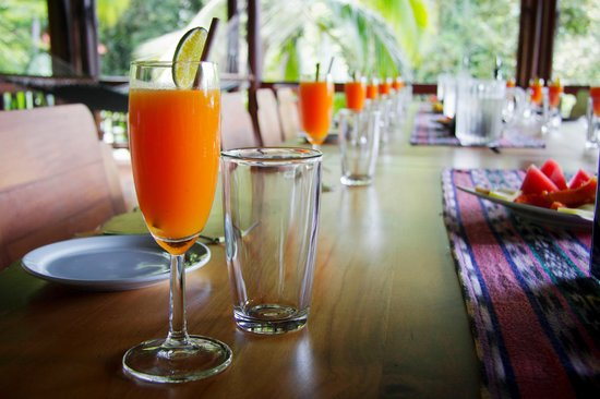 Playa Nicuesa Rainforest Lodge: Fresh fruit juice served at lunch everyday