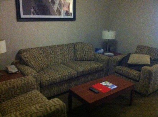 Sandman Hotel & Suites Winnipeg Airport: living room