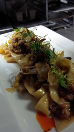 The Old Winery Restaurant : Pappardelle with Niagara 'Nduja Sausage and Grilled Corn
