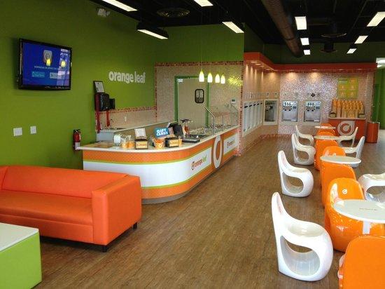 Orange Leaf bright orange furniture