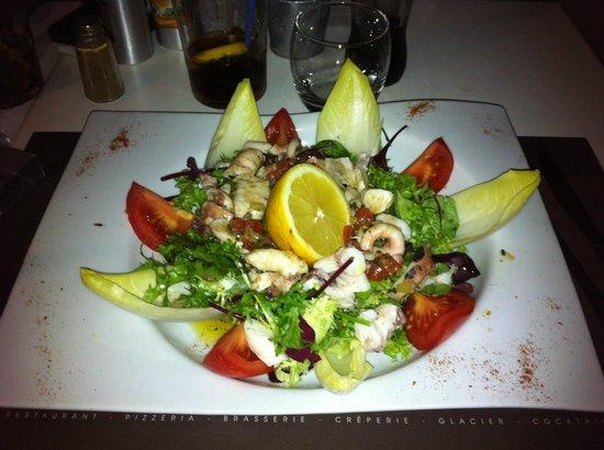 Les Palmiers: Salade de poulpe.