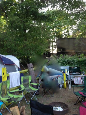 Anvil Campground: Train proximity to tent sites
