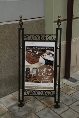 Arcadia Hotel - Tea Room sign