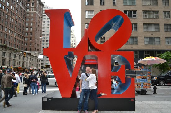 Love Sculpture in NYC - Picture of Love Sculpture, New York City ...