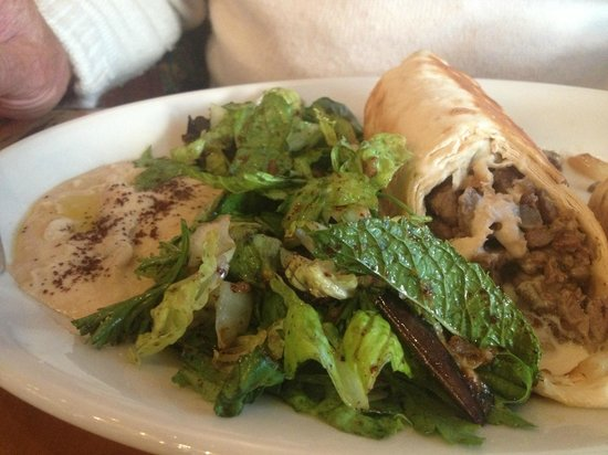 Fattoush: Lamb Wrap